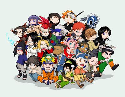 Avatar, Bleach, Death Note & Naruto  Chibi