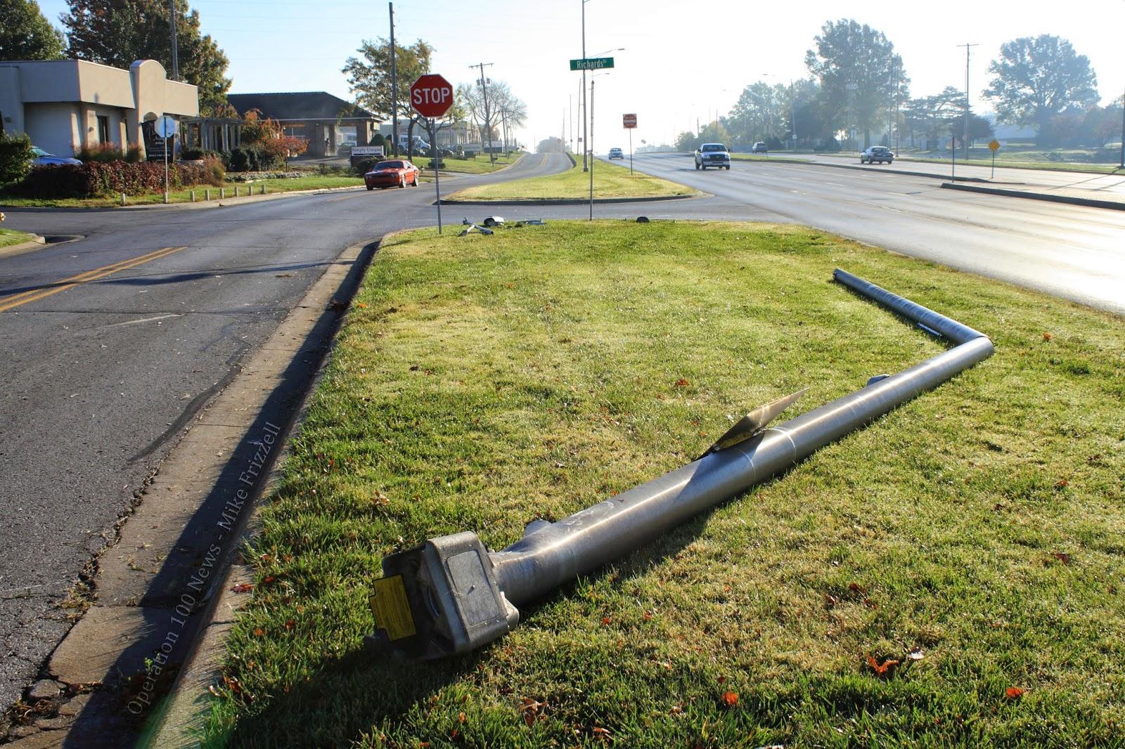 Light Pole Crashes Onto Car San Diego