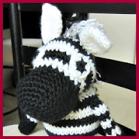 Cebra amigurumi gordita