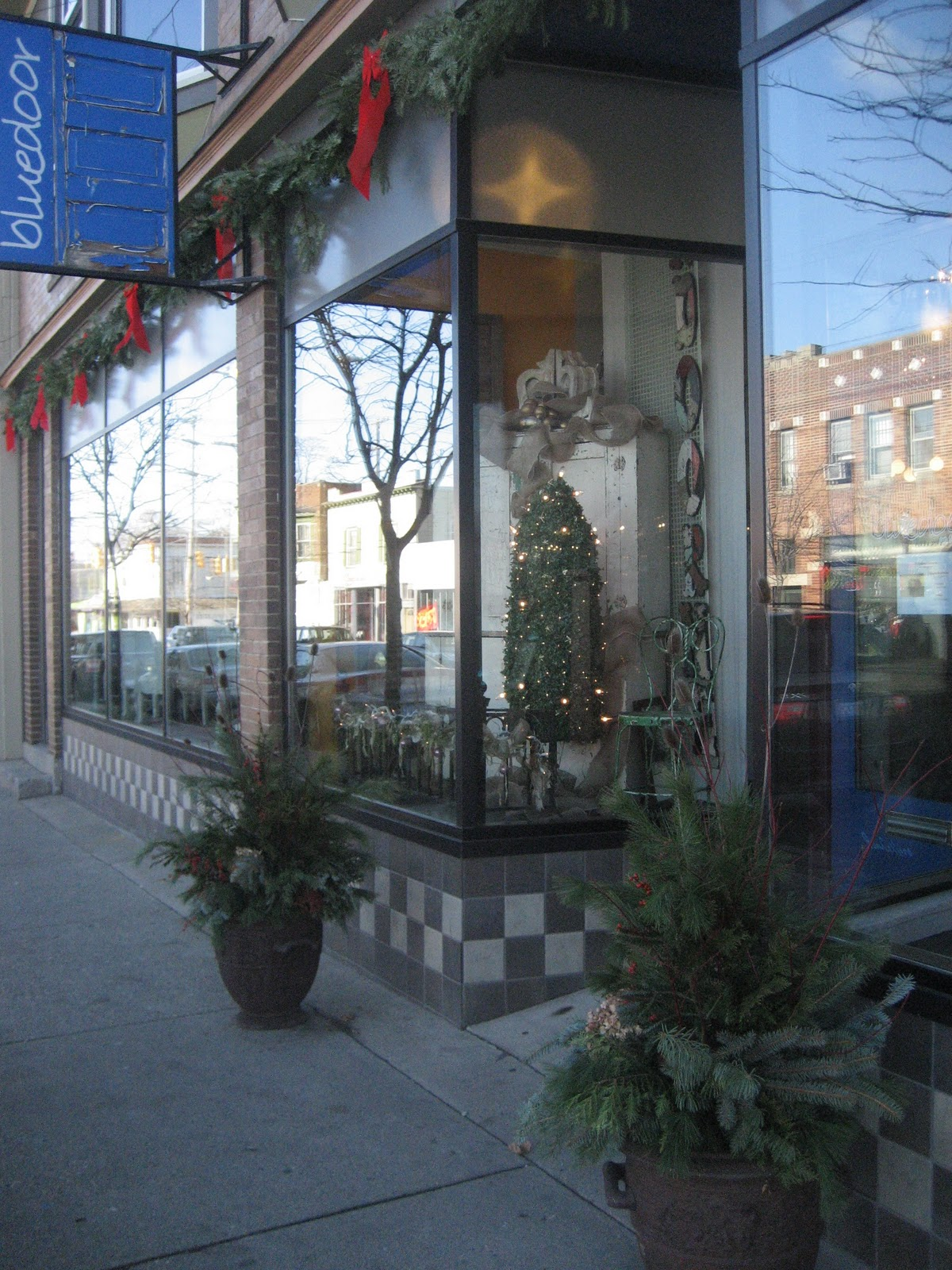 Blue Door Antiques, in the Fulton Heights district in Grand Rapids, picked  up two of our ready-made winter arrangements! Your business can have a  beautiful ... - Red Twig & Balsam