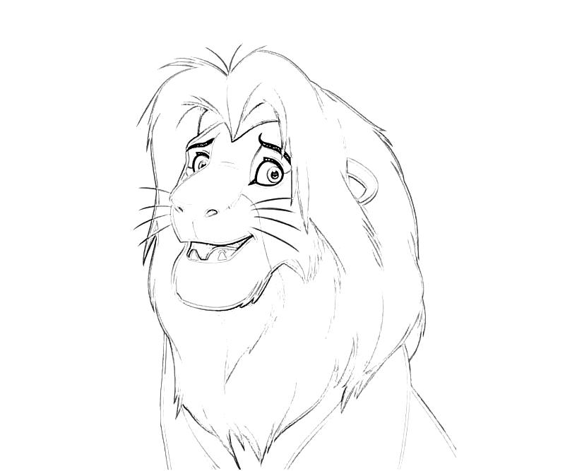 Printable 10 Simba Characters The Lion King Coloring Pages