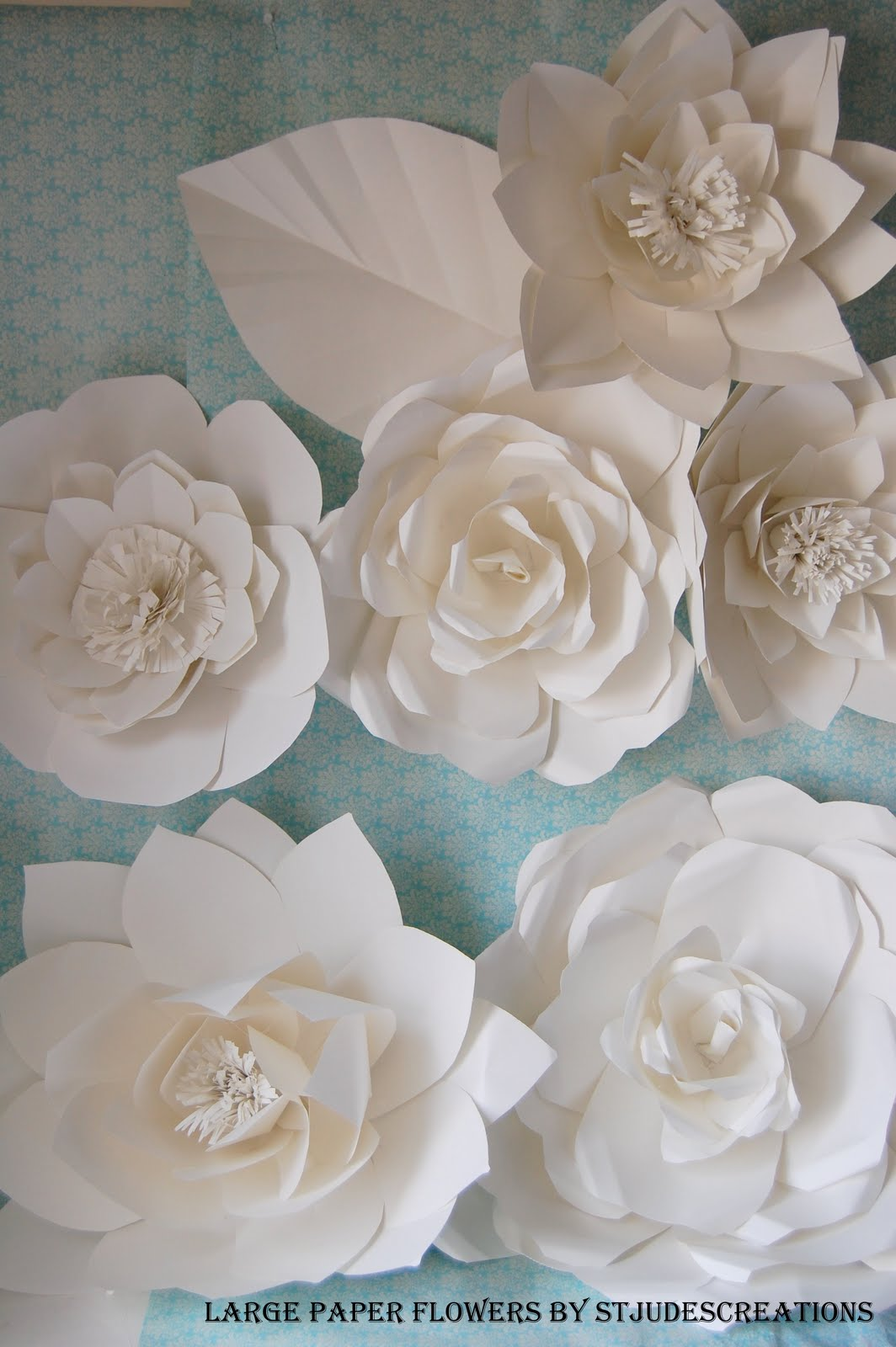 Large chanel paper flower wall inspired wedding backdrop wall for if you like this post you would love my book how to make 100 paper flowers mightylinksfo