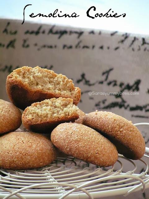 Semolina Cookies / Rava Biscuits
