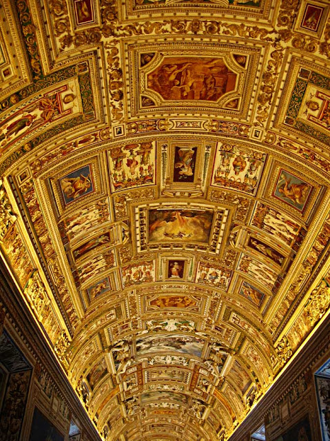 painted architecture at the sistine chapel in Rome