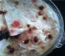 resep puding roti pisang coklat keju panggang bufeb suka roti