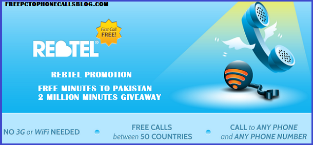 Rebtel Free Minutes to Pakistan Offer