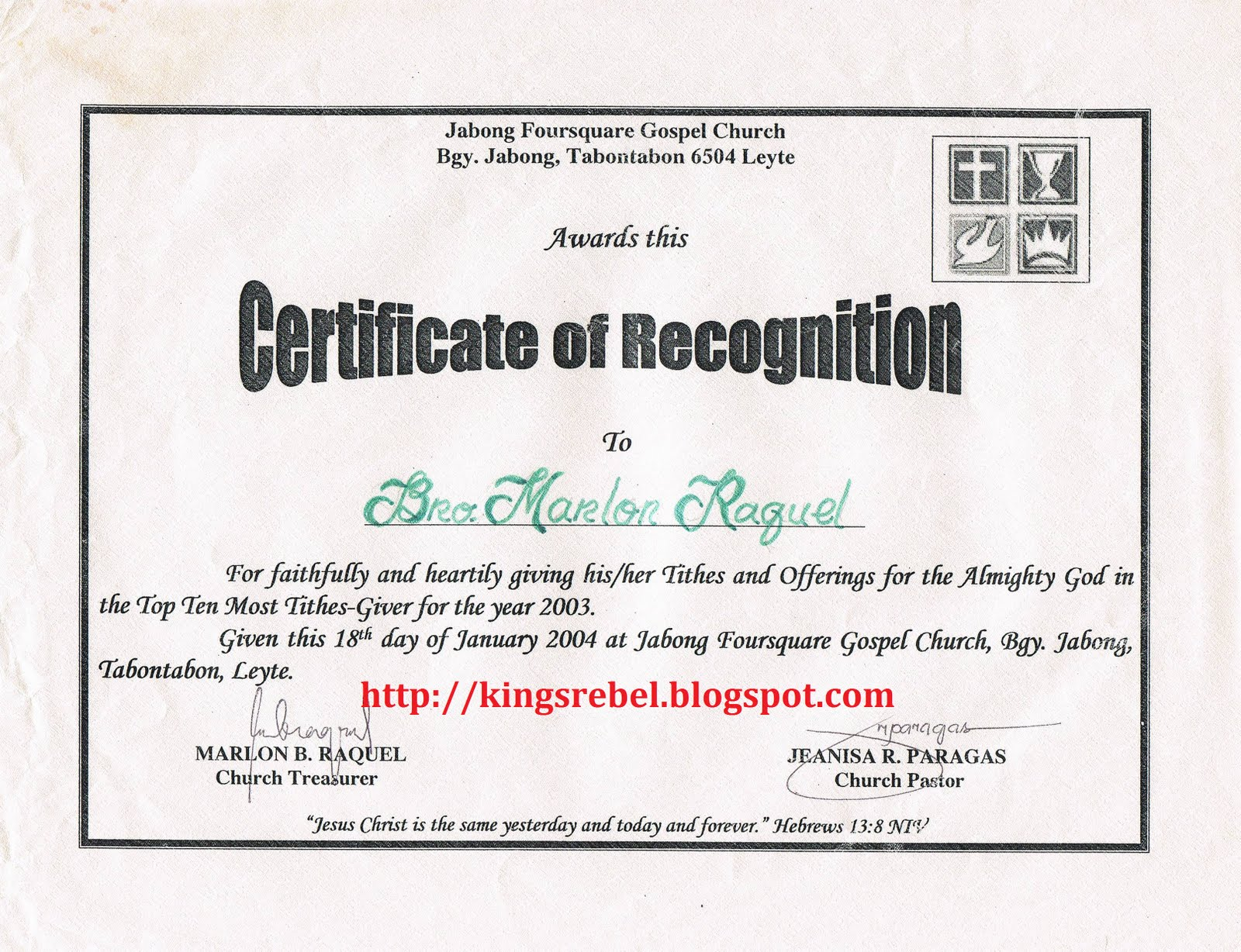 Examples of Certificate of Appreciation Recognition