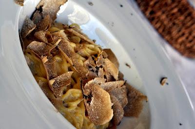 Tagliatelle with Truffles at Ristoro di Lamole in Lamole, Italy | Taste As You Go