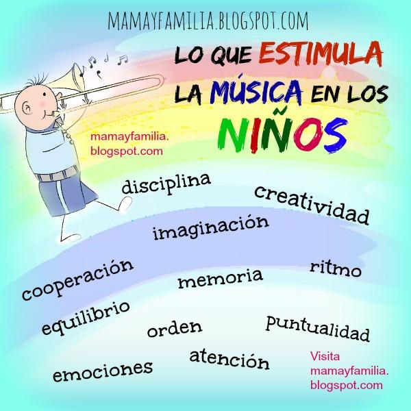 10 Razones para que los niños estudien Música. Tiene tu hijo inclinaciones musicales. Los niños y la música, motivos para estudiar musica. Educación de los hijos. Mamá y familia.