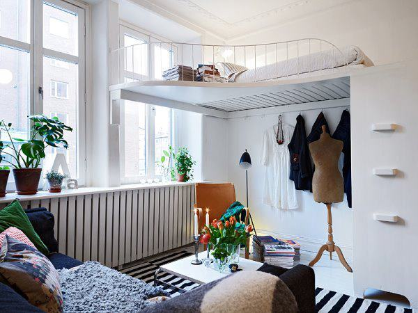 Having Small Bedroom Interior Does Not Mean You Can Not Put Your Clothes In  The Same Area, You Can Change Your Wardrobe With Big Box To Put Your Clothes .
