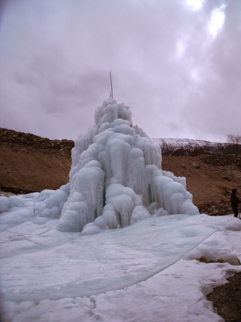 Ice Stupas are a novel way of comabting Ladakhs water challenges