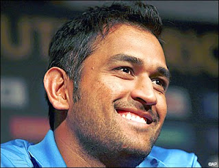 M.S Dhoni smile