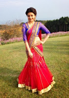 kajal-agarwal-half-saree-shooting-in-Japan