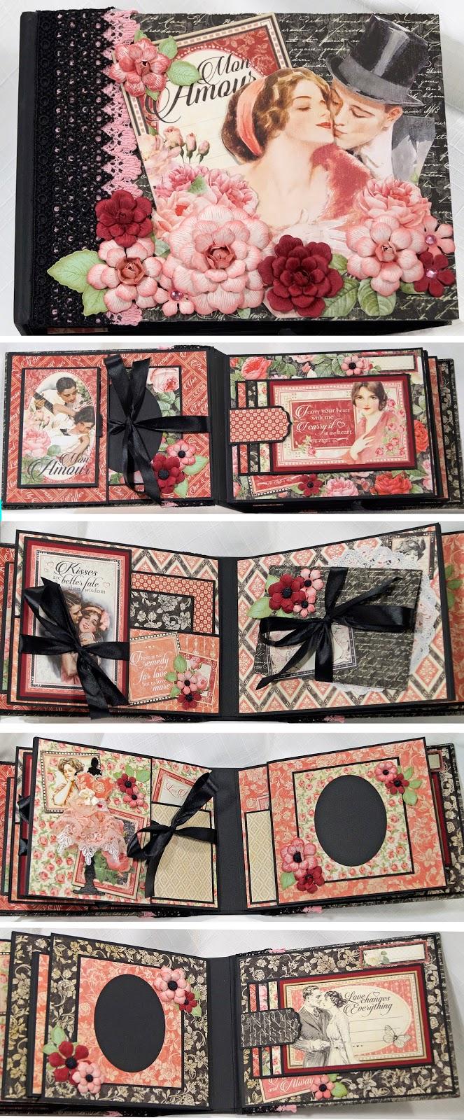 Terry 39 s scrapbooks graphic 45 mon amour mini album - Scrapbooking album photo ...