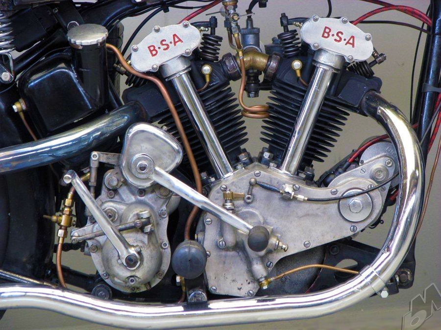Vintage Bike Of The Day 1934 498cc V Twin Bsa J34 11