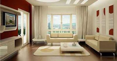 desain interior ruang keluarga  rumah eropa
