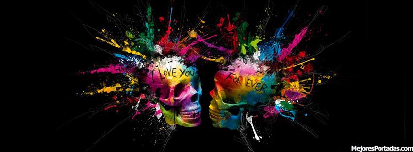 PORTADAS FACEBOOK TIMELINE BIOGRAFA Esqueletos Love Color