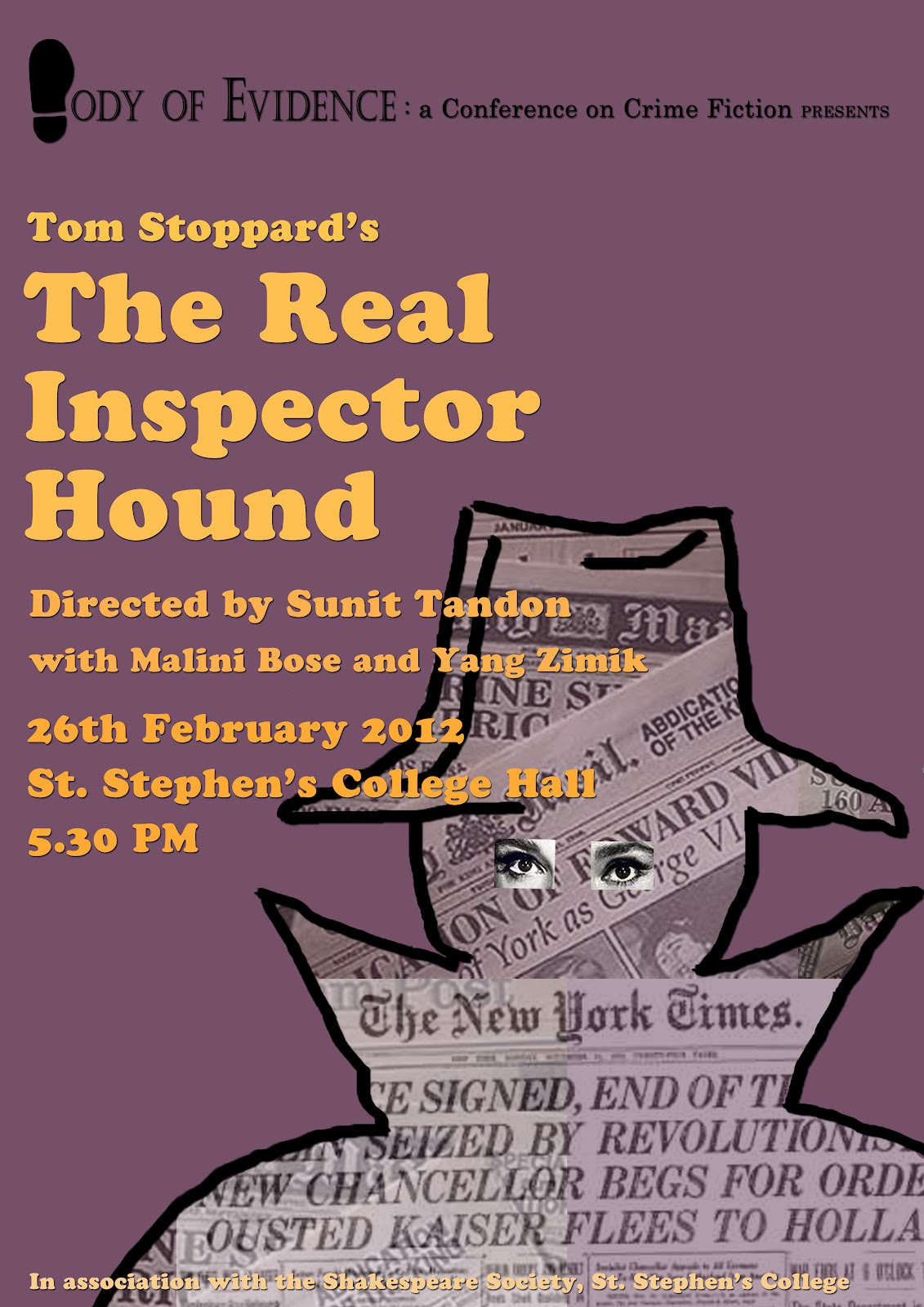 the real inspector hound Tom stoppard – the real inspector hound trying to define postmodernism would mean setting boundaries this is exactly what postmodernism is not about.