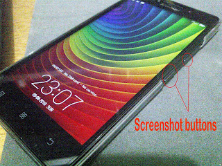 cara capture gambar screenshot android