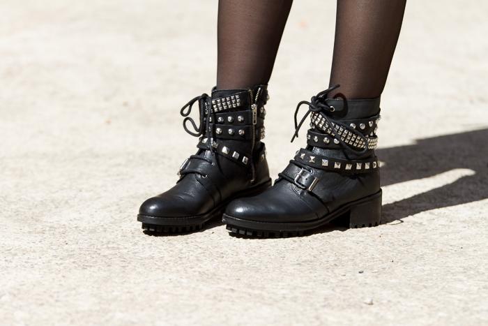 Versión Low Cost de Zara de botas de Saint Laurent colección de blogger Adicta a los Zapatos