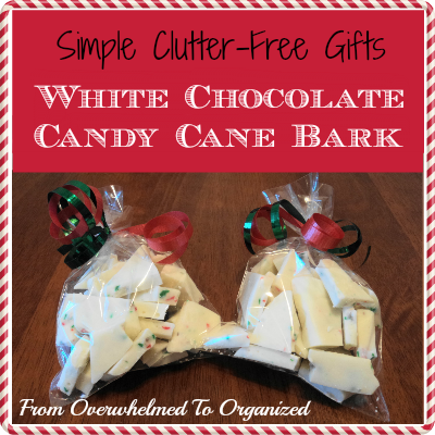 http://fromoverwhelmedtoorganized.blogspot.ca/2013/12/simple-gifts-white-chocolate-candy-cane.html