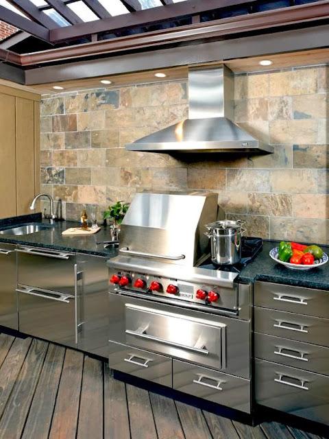 Outdoor Kitchen, Desain Dapur  Elegan Outdor