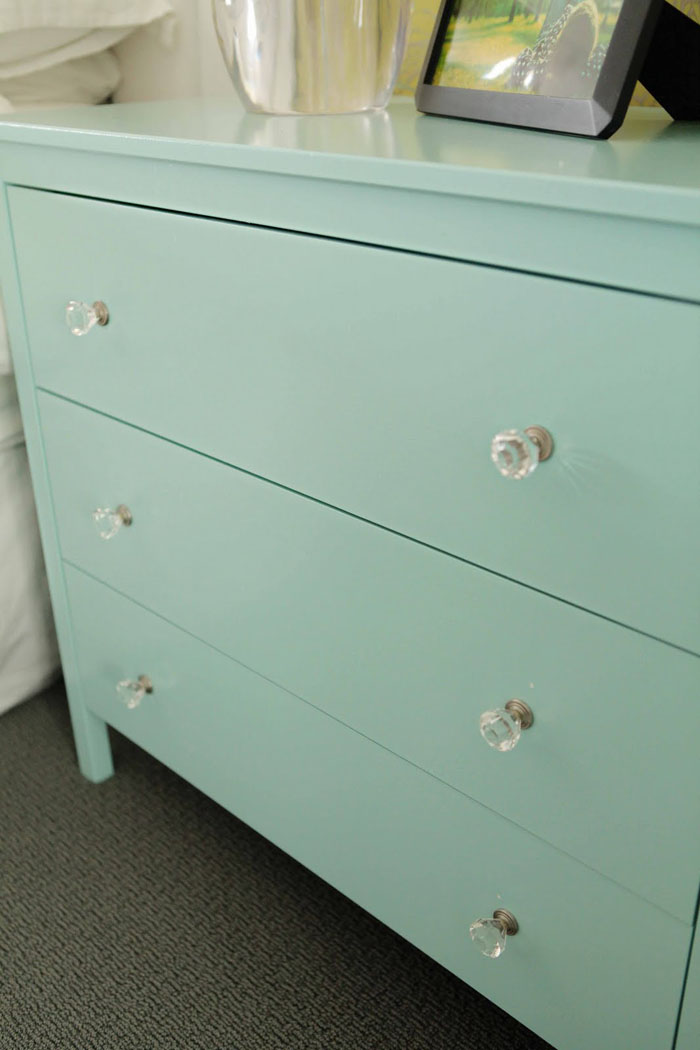 An As Is Koppang Chest Of Drawers Gets Some Knicks Fixed With A New Coat Paint And Pretty S For Nice Minty Makeover Visit Beach House In The City