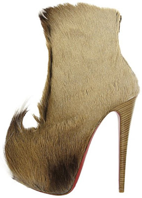 Scary Shoes, Furry Shoes, Louboutin