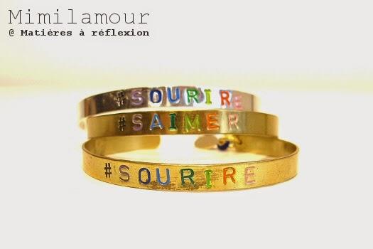 Bracelets Mimilamour Hashtag message