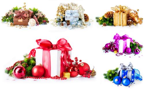 BANCO DE IMGENES 6 imgenes con regalos de Navidad y adornos