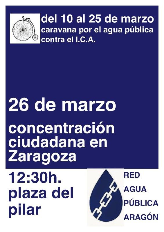 Caravana por la Agua Pública de Aragón