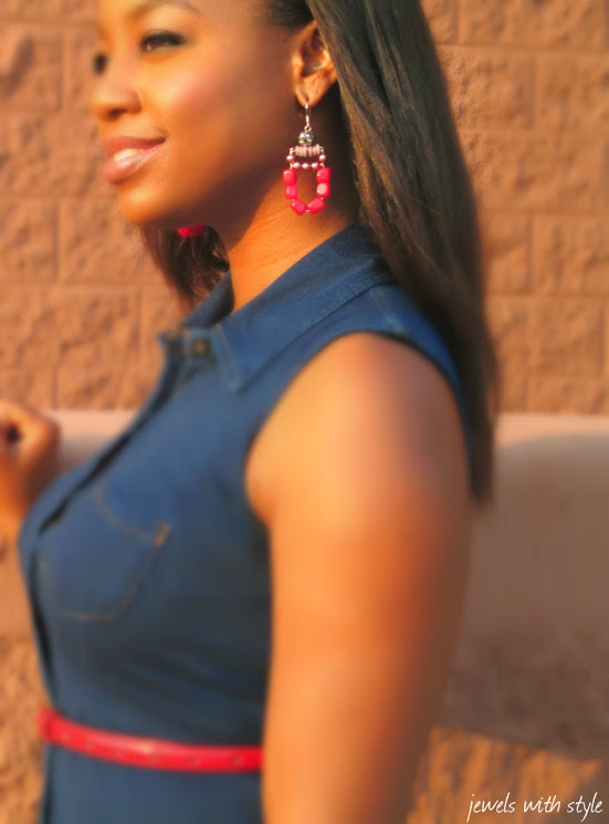 jewelry, red earrings, fashion blogger, black fashion blogger, M Renee Design, handmade jewelry