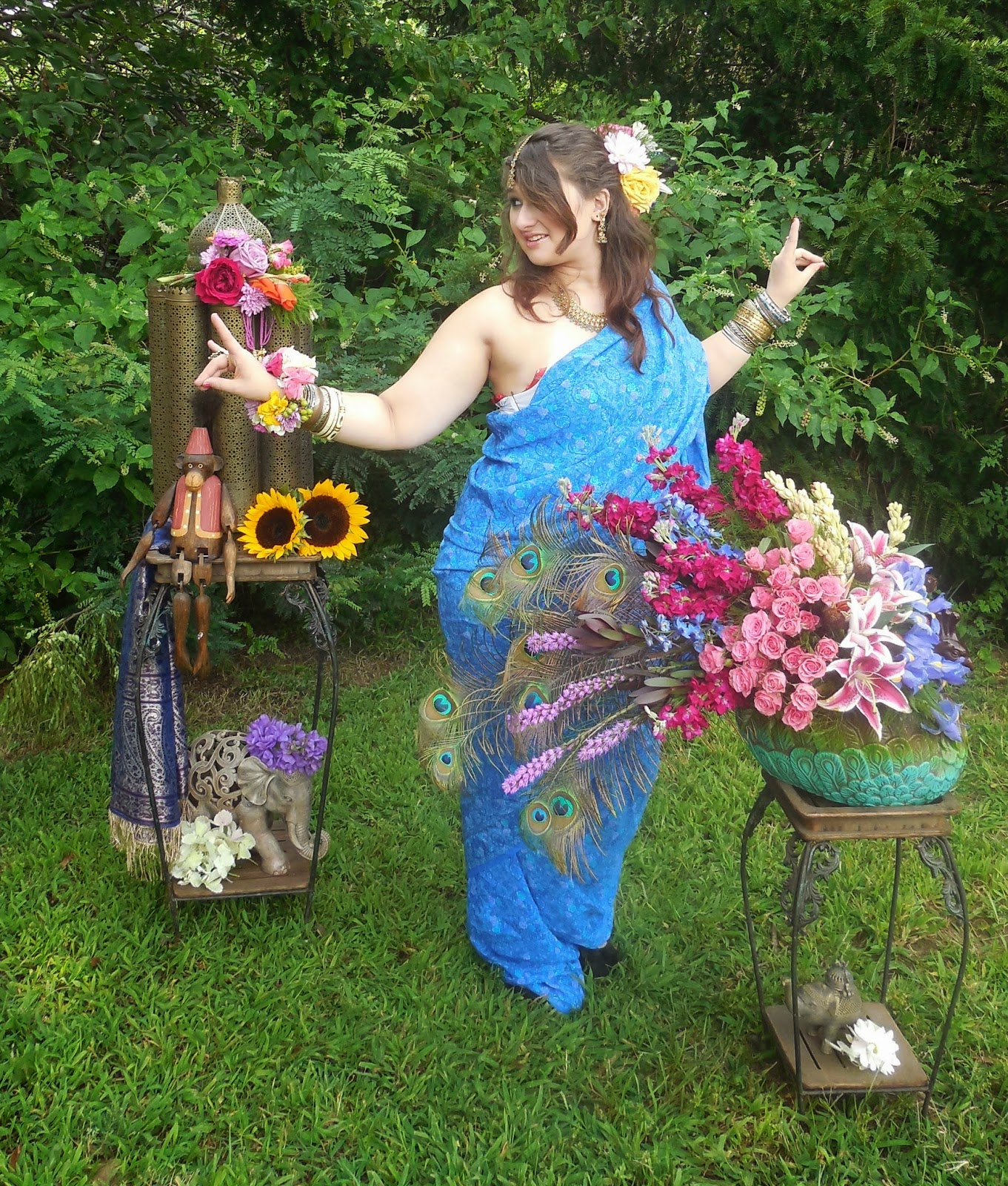 Bollywood fun, Indian inspired designs by Stein Your Florist Co.