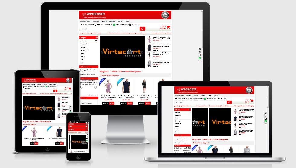 Download Template Theme Toko Online WP Grosir Terbaru Lengkap