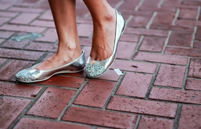 jimmy choo flats glitter