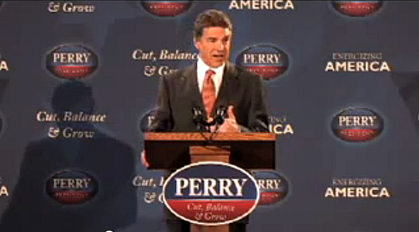 Rick Perry's Tax Plan. Cut, Balance and Grow FULL VIDEO and TEXT