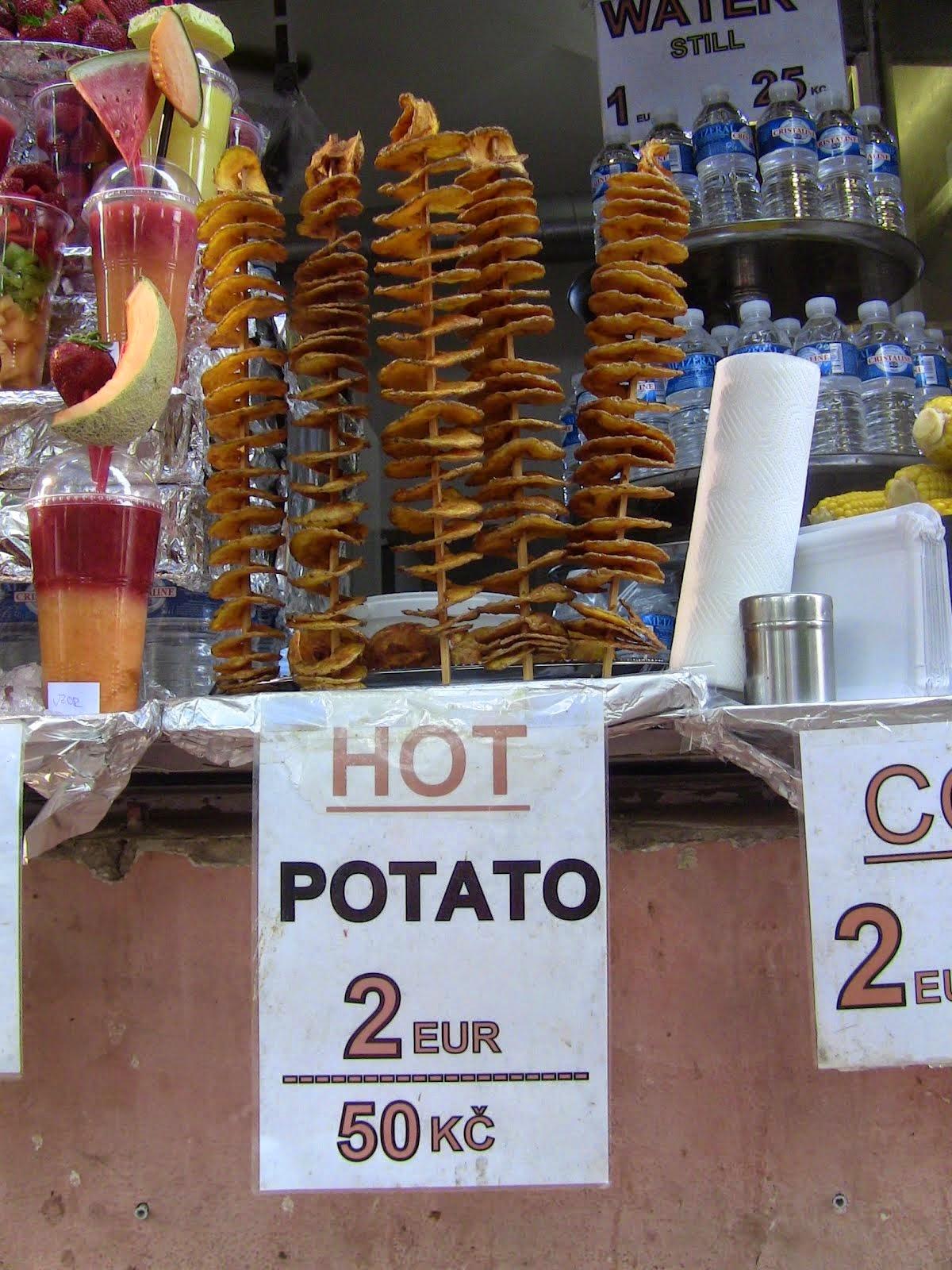 la brochette de pomme de terre façon tchèque