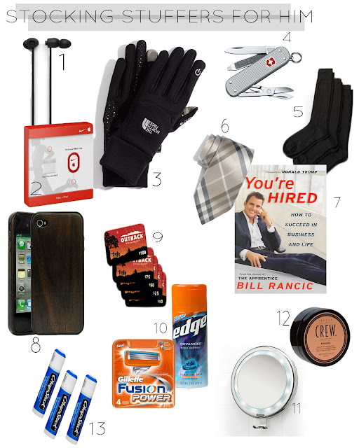 Day Four {Stocking Stuffers for Him}...