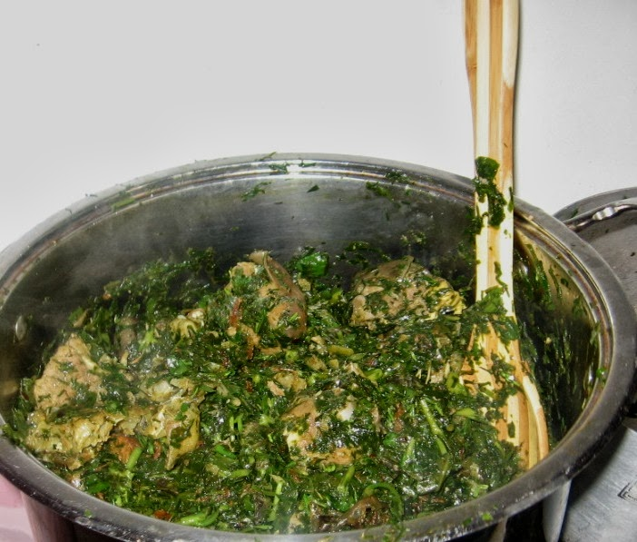 how to cook vegetable soup with waterleaf