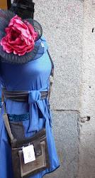 vestido HOERTONN tocado BY FA Y Bolso OCC