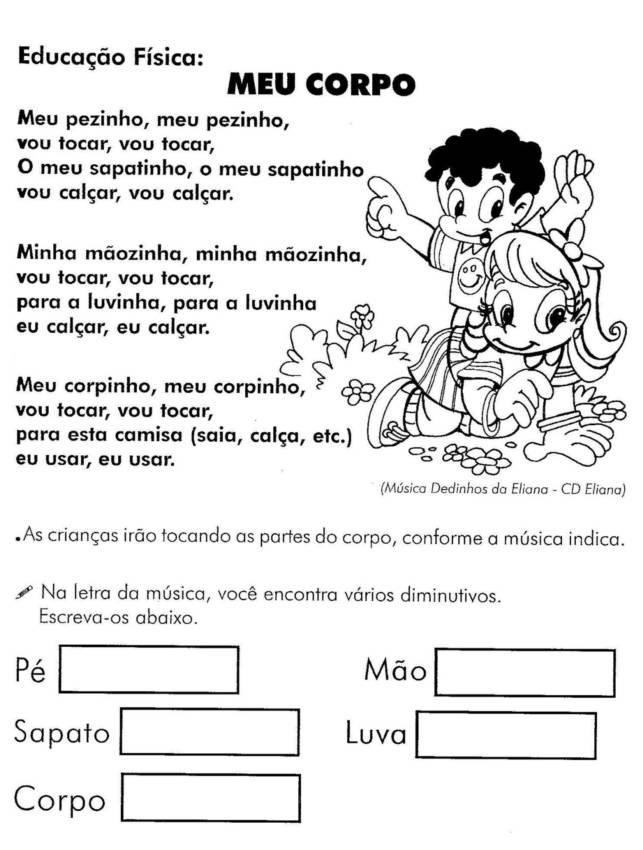 Famosos EDUCAÇÃO FÍSICA - 45 ATIVIDADES EXERCÍCIOS DESENHOS COLORIR  IT39