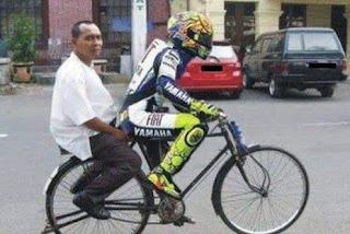 funny picture Poor Man's Ducati - Cycle