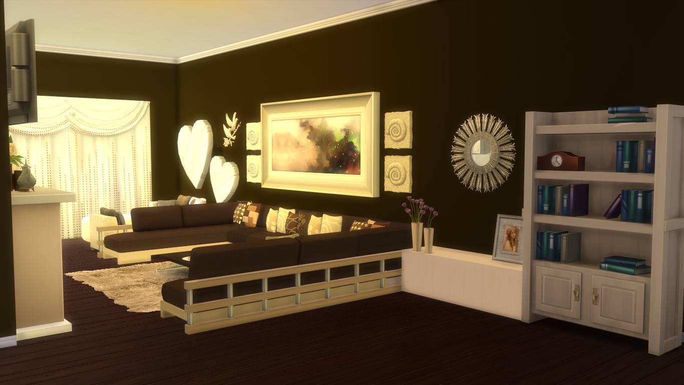 Sims 4 Room Download: Elle\'s Living Room | Sanjana Sims Studio