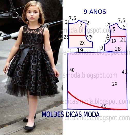 Нарядные детские платья выкройки 5