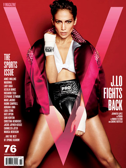 Jennifer Lopez photos boxeuse pour V Magazine
