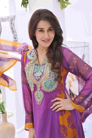 Nofil Siddiqui Summer collection 2014 featuring Shaista lodhi