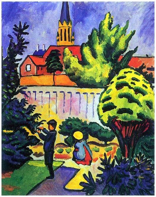 Kinder im garten enfants dans le jardin
