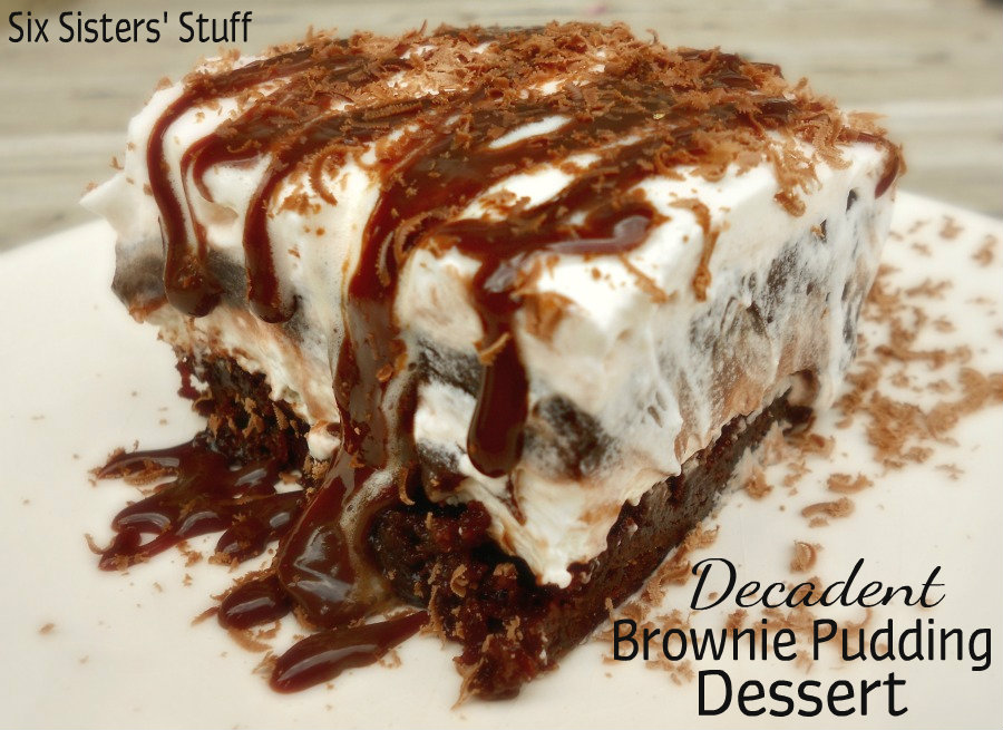 Decadent Brownie Pudding Dessert | Six Sisters' Stuff