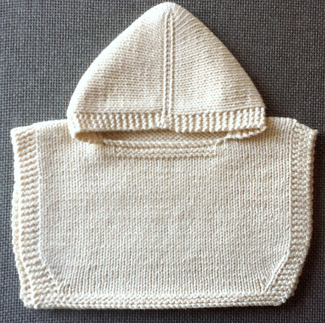 Cream hooded baby poncho  |  Some little-soon-to-be-big news on afeathery*nest  |  http://afeatherynest.com