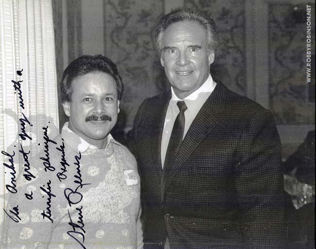 ANIBAL LOPEZ WITH HIS IDOL STEVE REEVES TWO LEGENDS FROM THE GOLDEN AGE OF BODYBUILDING ● www.robbyrobinson.net/motivation.php ●